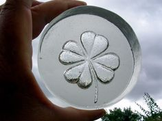 Vintage Glass Four Leaf Clover Paperweight Made By Goebel | eBay