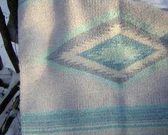 Vintage Native American Wool Rug Handwoven, via Etsy. Native American Print, Rug Making, Pastel Colors, Nativity, Wool Rug, Hand Weaving, Rugs, Vintage, Etsy