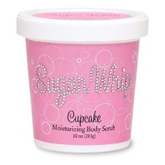 Never tried this, but it sounds nice. -Primal Elements Cupcake Sugar Whip Moisturizing Body Scrub