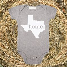 Homeland Tees - #Texas #Home #onesie.  Available in blue, grey, or pink! $17.95, via Etsy.  Avlable in blue, grey, or pink! A portion of the proceeds goes towards protecting our parks and nature areas