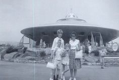 Braniff Airways Flying Saucer, Freedomland Amusement Park, the Bronx, New York, Early 1960.