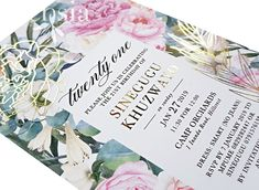 Fuchsia Wedding Stationery in Durban provide traditional, modern, lasercut or handmade couture wedding invitations. Our Invitation Cards are design-led. Couture Wedding Invitations, Wedding Invitation Design, Wedding Stationery, Floral Invitation, Stationery Design, Gold Foil, Our Wedding, Birthday, Handmade