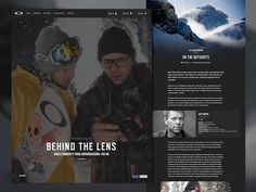 """Just launched a new blog feature - Behind The Lens  Go """"Behind the Lens"""" with the renowned photographers who captured still imagery for the new Oakley movie, """"Snowboarding: For Me.""""  For the last 2..."""