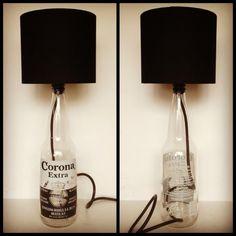 Corona bottle lamp    #Bottle, #Lamp, #Light, #Recycled, #Repurposed