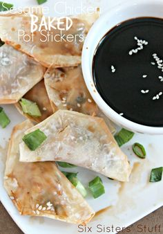 Sesame Chicken Baked Pot Stickers from Six Sisters' Stuff is such a fun date idea!