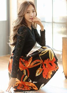 Chic Skirt from Styleonme.  Korean Fashion, Women Fashion, Feminine Look, Classy Look, Office Look, Lovely, Romantic, High Quality, Gorgeous Look, F/W 2014,Style On Me, Louis Angel, Winter Styling  www.styleonme.com www.facebook.com/StyleonmeEn