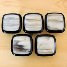 Fused Glass Knob Cabinet Knobs Pulls Home Decor Black Vanilla Caramel Kitchen Bathroom Office Dresser Drawer Knobs Closet Handles Fixtures