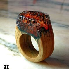 The volcanic river wooden ring, inspired from the powerful volcanic eruptions!!! Only @sxwoodencreations wooden rings with artful landscapes and realistic environments!!! #sxwoodencreations #woodenrings #awsomering #handmadejewelry #handcrafted #rings #secretwood #tiny #world's #resinrings #volcano #eruption #volcanicrivers #nature #beauty
