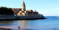 Un atardecer de verano en Gijón