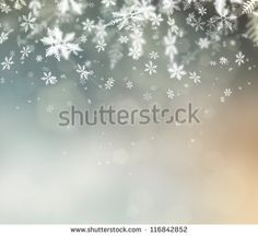 Beautiful abstract snowflake Christmas background - stock photo