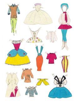 Vibs paper doll, handmade (4 of 5)