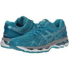 outlet store 1df26 baee0 ASICS GEL-Kayano 21 Women s Running Shoes, Blue ( 120) ❤ liked on Polyvore  featuring shoes, athletic shoes, blue, wide athletic shoes, blue athletic  shoes, ...