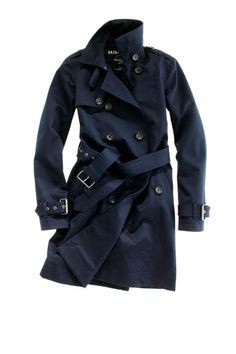 "Madewell 'Hampstead' trench. Love that it's #navy AND called ""Hampstead."" Perfection."