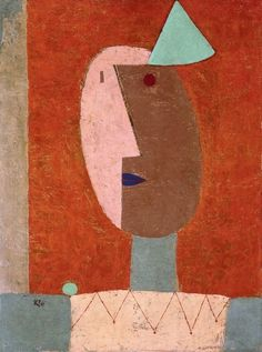 """immafuster:  """"Paul Klee - Clown, 1929  Oil on canvas  Private collection  """""""