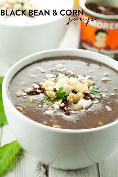 Black Bean & Corn Soup | asimplepantry.com #VivaLaMorena #ad
