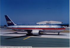 USAir Boeing 767-201/ER N647US on the taxiway at Los Angeles-International, circa 1990. Conclusion of a cross-country flight from Charlotte-Douglas for this ex-Piedmont aircraft. (Photo: metricbolt)