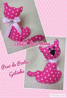Peso porta gatinha Ateliê Josi Anna #ateliejosianna #pesoporta #gatinha