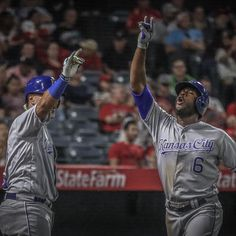 """1,785 Likes, 14 Comments - Kansas City Royals (@kcroyals) on Instagram: """"That's two homers for LoCain 🤘 #RaisedRoyal"""""""