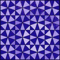 Kaleidoscope quilt block. Saw an example of this I liked - something to work towards.