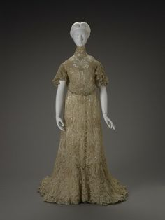 Dress Made Of Silk, Cotton And Linen - European   c.1890-1900  -  Indianapolis Museum Of Art