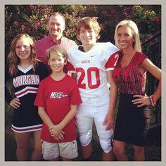 Maria   family at Dalton game