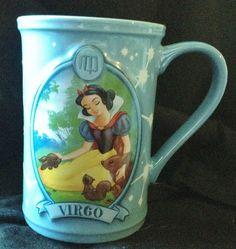 Disney Snow White Virgo Coffee Mug Cup Blue Hot Chocolate Cocoa