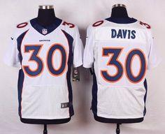 Men's Denver Broncos #30 Terrell Davis White Retired Player NFL Nike Elite Jersey