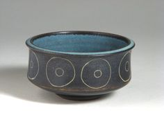 Bowl with circle design, made by HARRISON McINTOSH in 1971