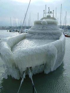 Ice boat.