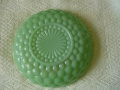 Fire King jadeite bubble bowl  ~K~ I found this bowl at a yard sale for five dollars and nearly fainted <3