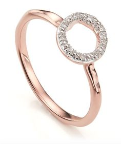 Monica Vinader Riva Mini Circle Stacking Ring - 18ct Rose Gold Vermeil on Sterling Silver (£135)