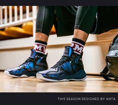 ff3a69b5c Anta 2018 Men s High Cushioning Basketball Shoes - Ink Blue