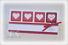Valentine's Day Postage card by Fran Sabad