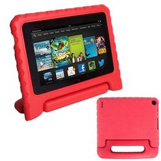 "Kids Shockproof EVA Foam Handle Cases Cover For 7"" Amazon Kindle Fire Red New #Affiliate"