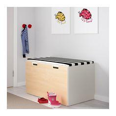 STUVA Banco con cajón - blanco/abedul - IKEA
