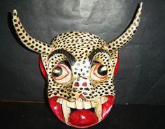 leopard diablo mexican folk mask
