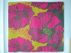 Tampella Design by Marjatta Metsovaara Fabric Valmu 1970S | eBay