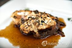 Diabetic chicken recipe for apple and thyme chicken, a flavorful main dish for people with type 1 or type 2 diabetes. DiabeticLifestyle includes all nutritional and diabetic exchange information on its easy, free diabetic recipes Diabetic Chicken Recipes, Diabetic Snacks, Healthy Snacks For Diabetics, Cooking Recipes, Chicken Receipe, Cooking Games, Cooking Classes, Healthy Cooking, Healthy Food