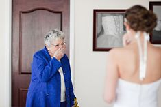 A grandma's reaction. This is what I wanted at my wedding, and it's looking less and less likely every day.