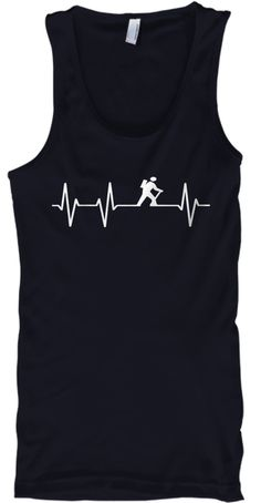 Hiking Pulse Tank Top Navy T-Shirt Front