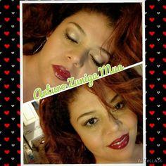 Maquillaje navideño ojos en pressed pigment de Mac Cosmetics delineado en sketch y labios en color living leyend