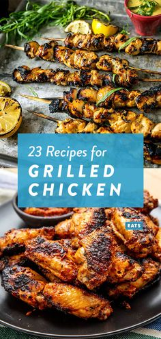 23 Grilled Chicken Recipes to Devour This Memorial Day Weekend Grilled Tandoori Chicken, Grilled Chicken Wings, Grilled Chicken Recipes, Chicken Wing Recipes, Grilled Food, Thai Chicken, Teriyaki Chicken, Cheesy Chicken, Grilling Recipes
