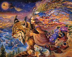 """Flight of the Lynx 2"" par Josephine Wall"