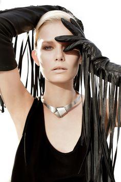 Karolina Bien in Simple Leather Opera Gloves. Fashion Magazine #41, Fall 2012.