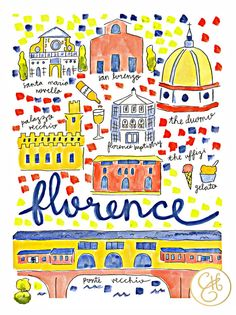 Florence Map Print by EvelynHenson on Etsy www.evelynhenson.com #evelynhensonart