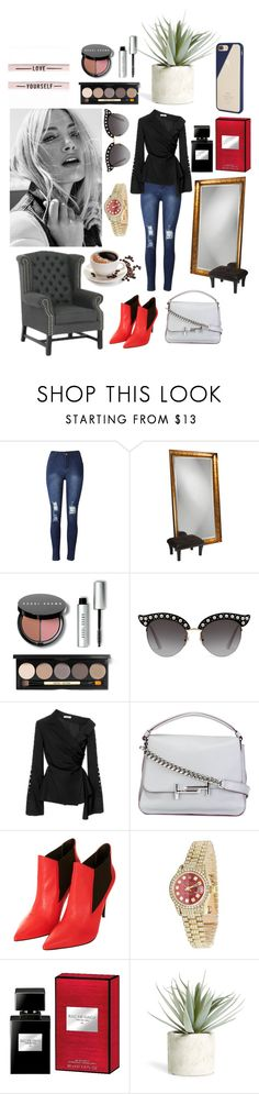 """""""My Style"""" by fifi-rai on Polyvore featuring Grandin Road, Bobbi Brown Cosmetics, Gucci, Adeam, Tod's, Topshop, Rolex, Allstate Floral and Native Union"""