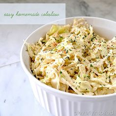 Easy Homemade Coleslaw Recipe - Cleverly Inspired