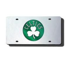 Boston Celtics Mirror License Plate Laser Tag