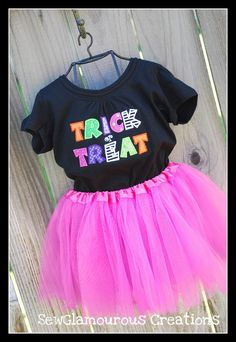 Trick or Treat Applique Halloween Tee T-shirt, via Etsy.