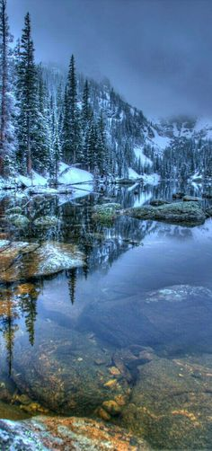 Rocky Mountain National Park, Colorado just after a spring snow. A beautiful morning in the clouds! Rocky Mountains, Places To Travel, Places To See, Winter Scenery, All Nature, Rocky Mountain National Park, Mountain Landscape, Nature Pictures, Belle Photo
